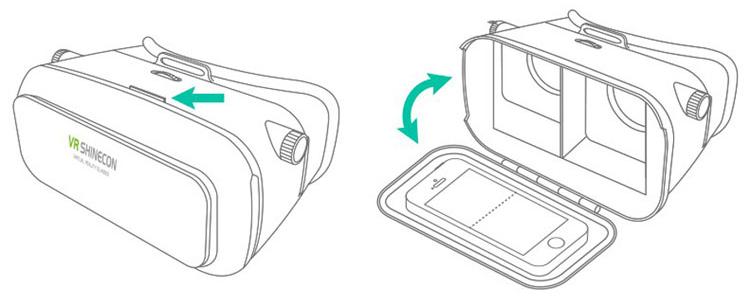 Как использовать устройство VR-Shinecon