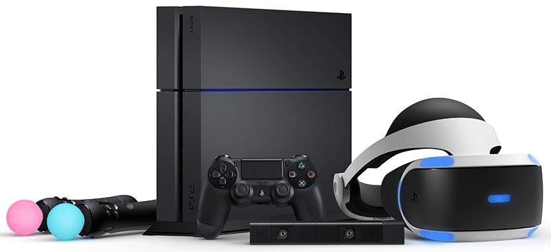 Комплектация PlayStation-VR