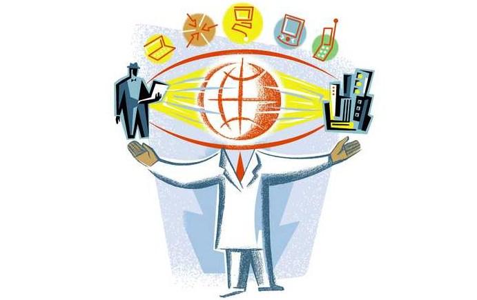 Обработка сведения через интернет