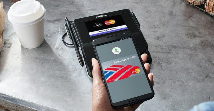 Значок Pay на экране